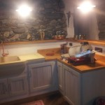 Cucina in larice spazzolato bianco