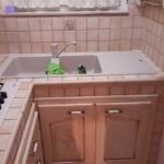 Cucina in muratura e legno massello