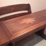 tavolo intarsiato e panca